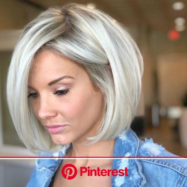 Icy Blonde Bob ❄️ - Behindthechair.com | Angled bob hairstyles, Modern bob hairstyles, Silver blonde hair