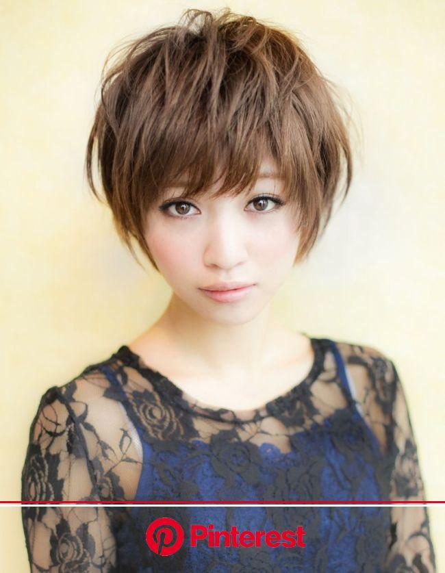 小顔束感ショートヘア(YR-340) | ヘアカタログ・髪型・ヘアスタイル|AFLOAT(アフロート)表参道・銀座・名古屋の美容室・美容院 | 髪型, ショートカット 髪型, ヘアスタイル