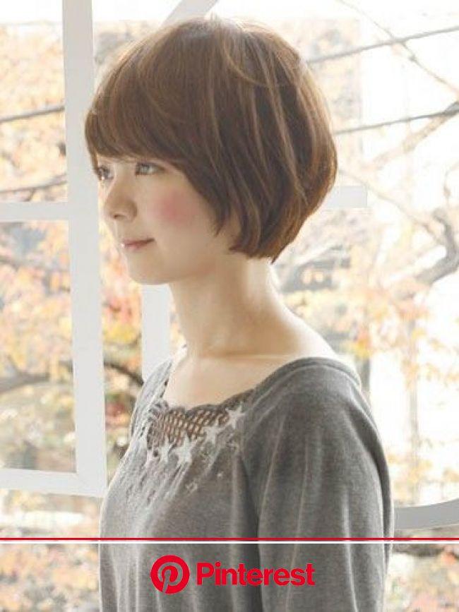 ガーリーショートボブ:ショート(画像あり)   ヘアスタイリング, 短い髪のためのヘアスタイル, 髪型