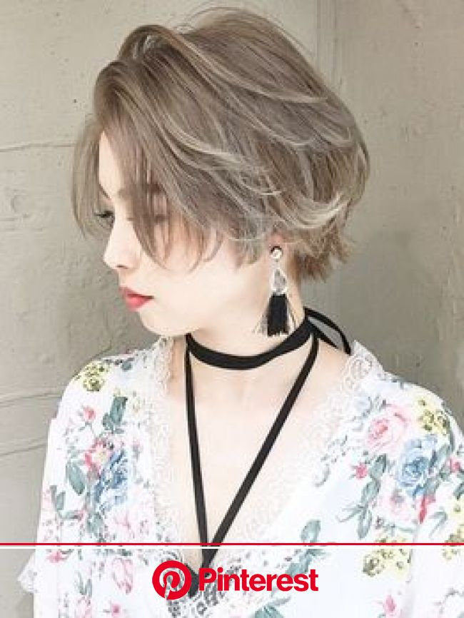 ベレーザ 渋谷(BELEZA)の写真/【カット+カラー¥4500】外国人風!かきあげバングショートのカジュアルSTYLEが目を惹く可愛さ!圧倒的人気♪(画像あり) | ヘアスタイリング, 髪 色, ヘアスタイルのアイデア