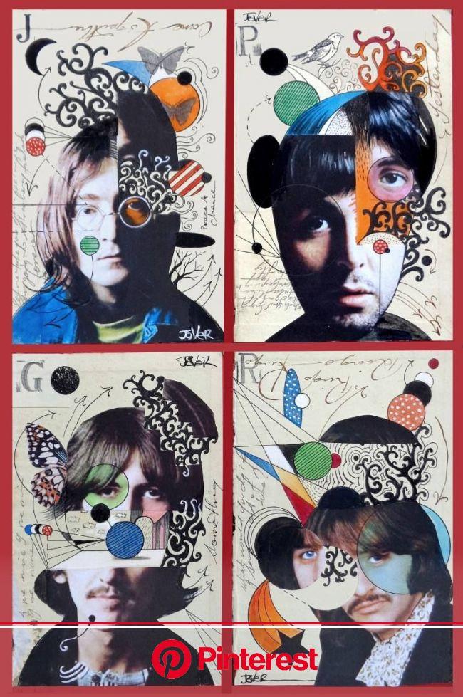 LOUI JOVER | Saatchi Art | Beatles art, Art, Collage portrait
