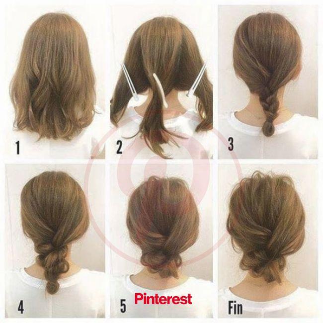 【ヘア連載】毎朝5分でOK!セルフで出来る簡単アレンジを伝授!現役美容師の@any_maedaさんに聞いたヘアアレンジ3選 | Hair tutorials for medium hair, Hair styles, Short hair updo