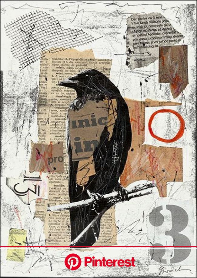 The Raven Collage – Mixed Media Collage | Collage art mixed media, Art, Art inspiration