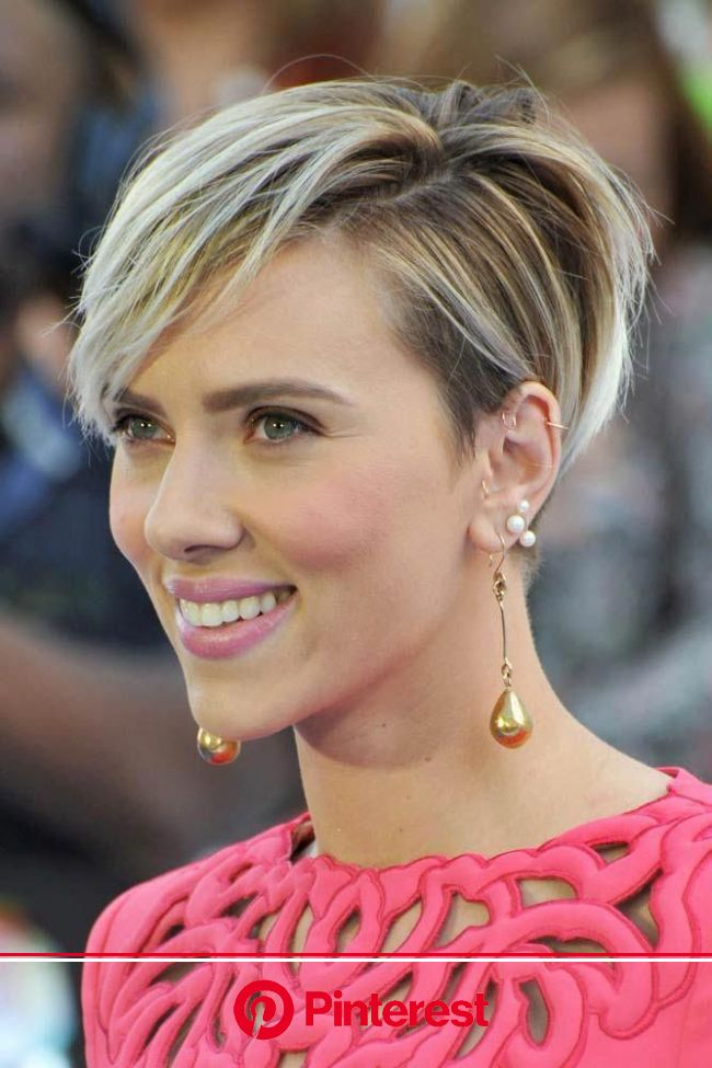 Messy Pixie Bob #scarlettjohansson #shorthair #hairstyles ❤️ If you still haven't seen these Scarlett J… | Thick hair styles, Short hair undercut, Sho