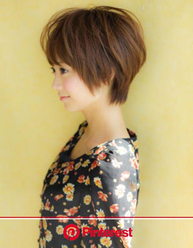 小顔カットショートヘア(YR-81) | ヘアカタログ・髪型・ヘアスタイル|AFLOAT(アフロート)表参道・銀座・名古屋の美容室・美容院 | ヘアスタイリング, ヘアスタイル, 髪型