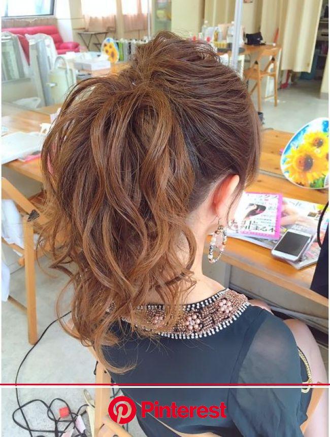 ヘアアレンジメント ボガスティーズ 溝の口店(Hair arrangement Vogusty's)ポニーテールアップ | 結婚式 ヘアスタイル お呼ばれ, ポニーテール ミディアム, ポニーテール