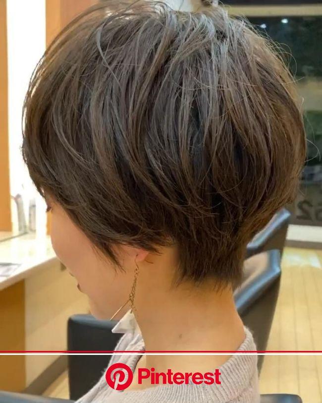 「ふわっと柔らかいくびれショート✂︎」[動画] | ショートのヘアスタイル, ヘアカット, ヘアカット技術