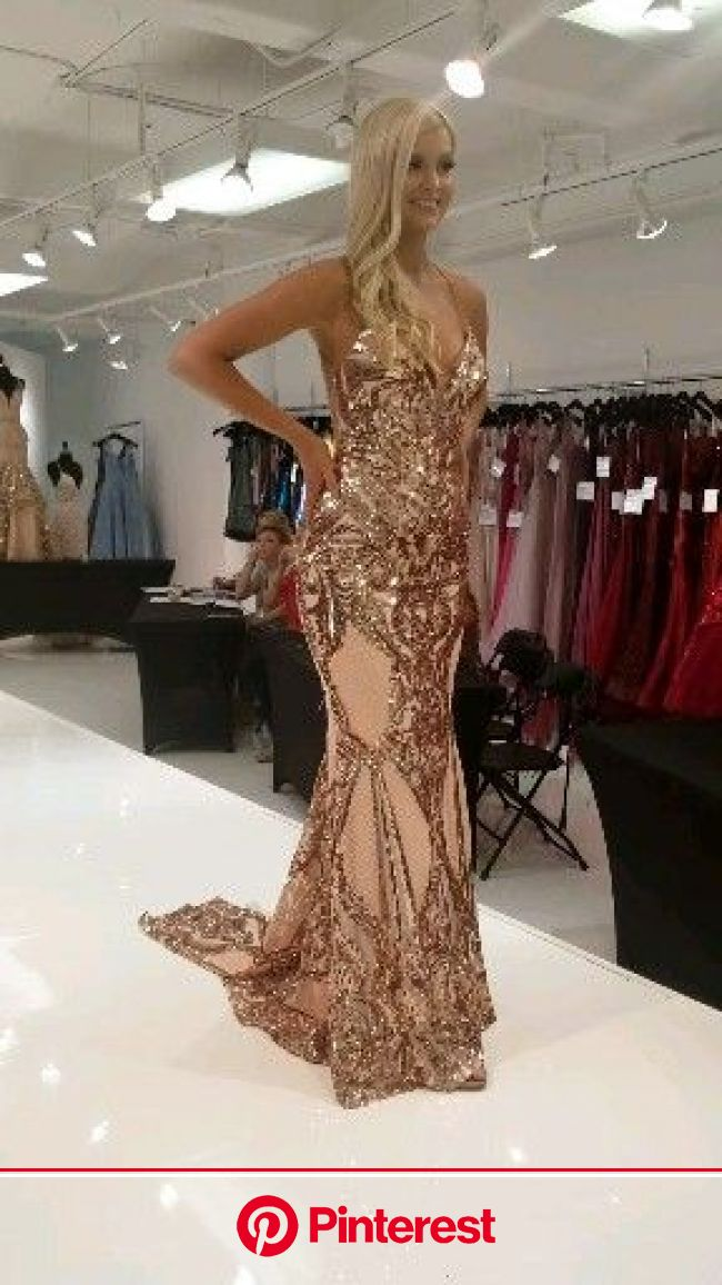 Sequin Rose Gold Gown [Video] | Rose gold gown, Gowns dresses, Gold gown