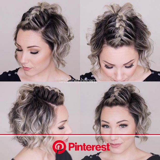 43 Quick and Easy Braids for Short Hair | Page 2 of 4 | StayGlam | Short hair mohawk, Cute hairstyles for short hair, Hair styles