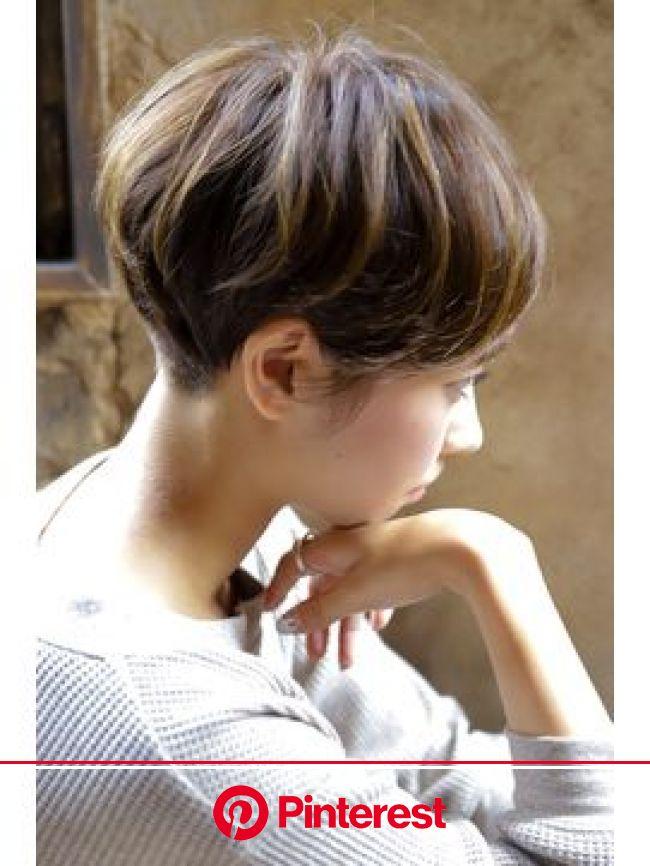 【+~ing deux 】ナチュラルマッシュ【隨原 麻由】 | ヘアカット, マッシュショート 髪型, ヘアスタイル