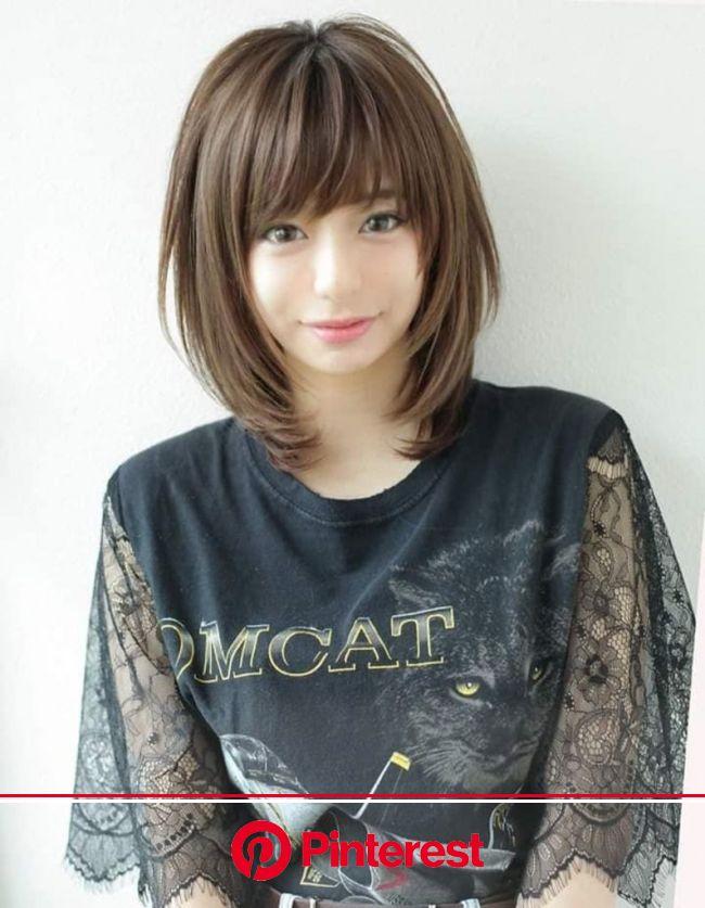 (YR-0450) | ヘアカタログ・髪型・ヘアスタイル|AFLOAT(アフロート)表参道・銀座・名古屋の美容室・美容院 | ヘアスタイル, ミディアムボブのヘアスタイル, ヘアカット