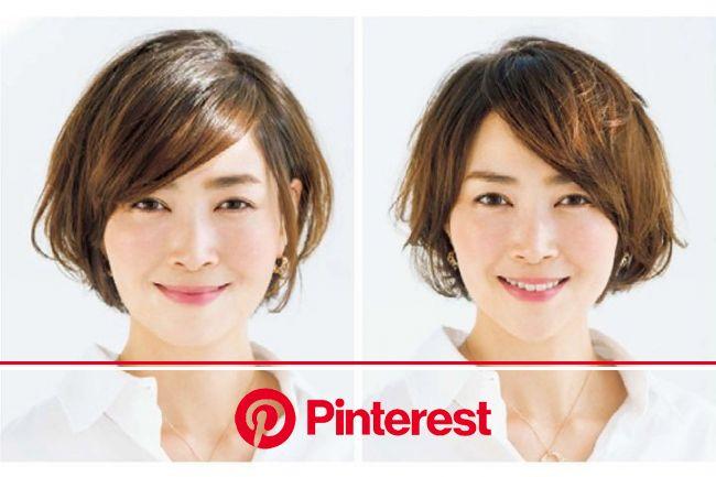40代女性の髪型11選|長さや前髪など、似合う髪型を見つけるヘアスタイル集 | Precious.jp(プレシャス) | ロング 面長, ヘアスタイル記録, 髪型 ボブ