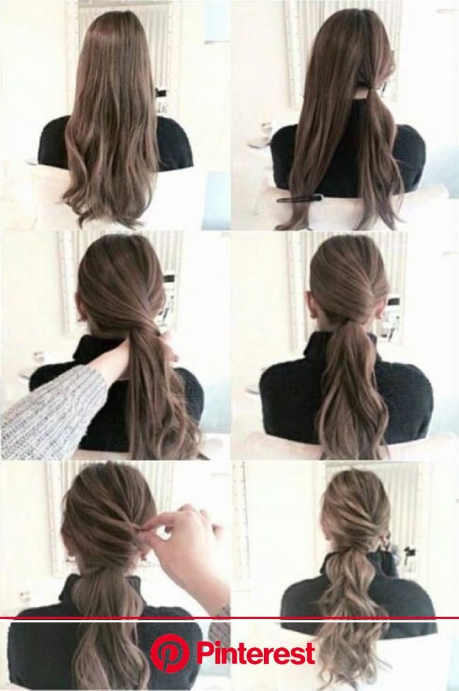 20+ Simple DIY Tutorials on How to Style Your Hair in 3 Minutes - Bafbouf | Hair styles, Long hair styles, Work hairstyles