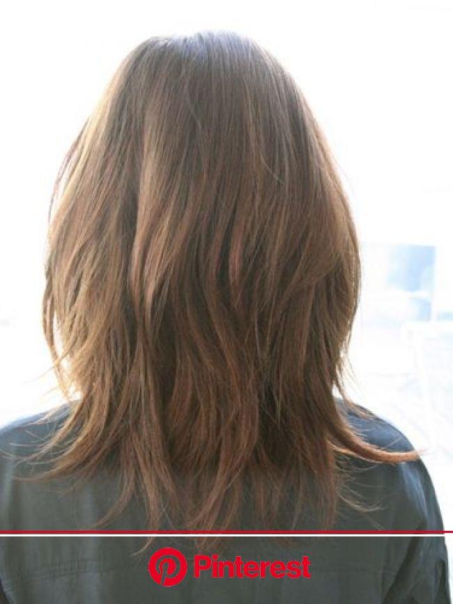 オフィスに映えるクールミディアム[ヘアスタイルカタログ]All About ミーコ | ヘアスタイル, レイヤーカットヘア, ヘアカット
