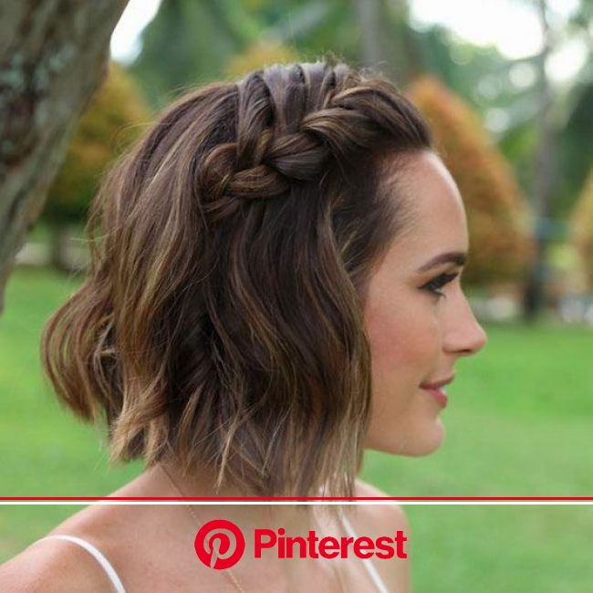 Stunning Short Hairstyles for Your Wedding Day in 2020 | Short wedding hair, Braided hairstyles for wedding, Short hair updo