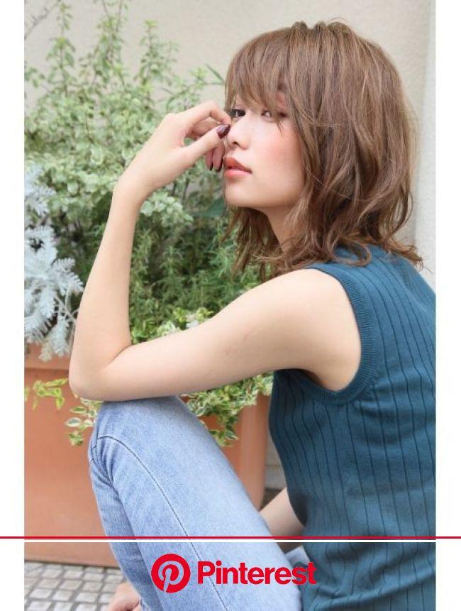 ロエナ(ROENA)ナチュラルひし形シルエットデジタルパーマフェアリー | ヘアスタイル, デジタルパーマ, エラハリ 髪型