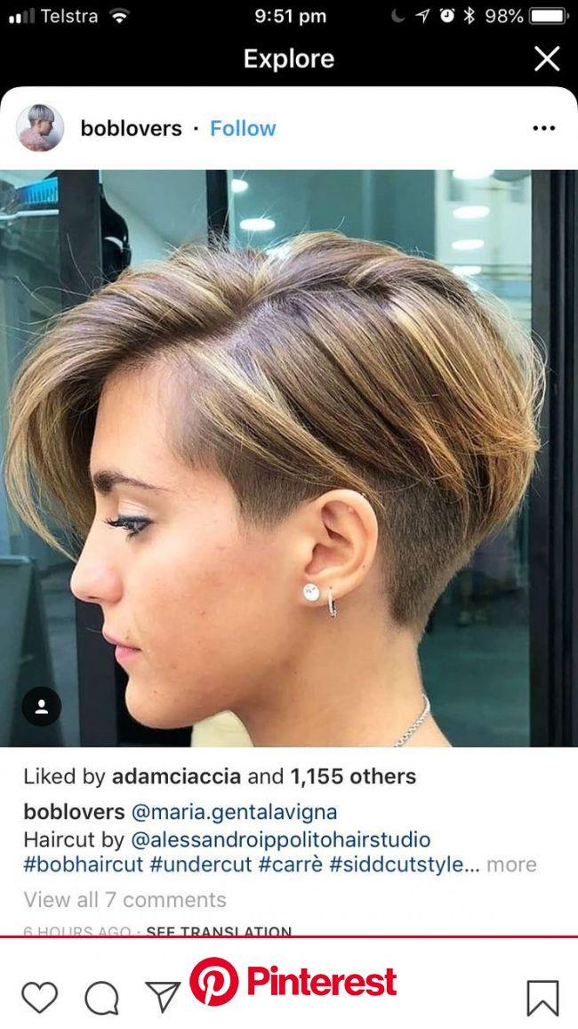 ロングフェイス2020のかわいいヘアスタイルのアイデア-ベストショートヘアカット【2020】 | ヘアカット, ピクシーヘア, 刈り上げヘア