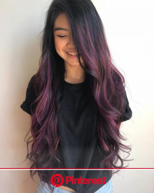 19 Dark Purple Hair Color Ideas Trending in 2020 | Hair color for black hair, Dark purple hair color, Dark purple hair