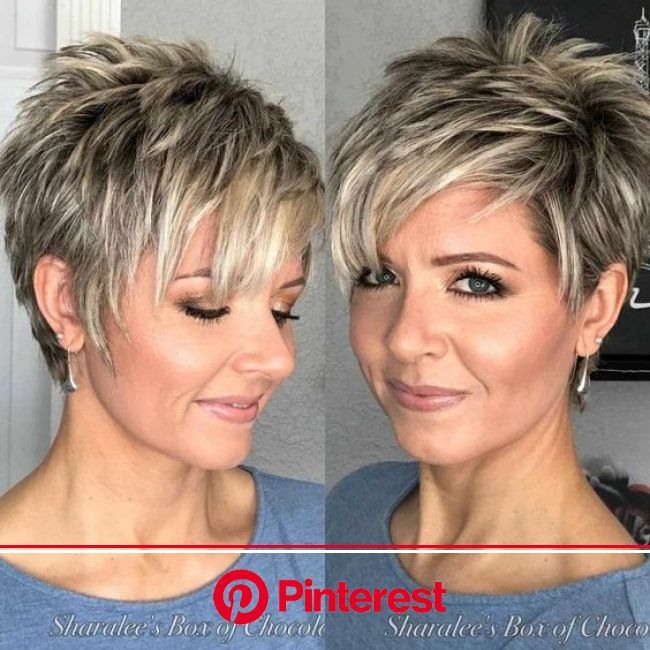 Simple Short Hairstyles for Straight Hair - Female Short Haircut Ideas | Spiked hair, Hair styles, Thick hair styles