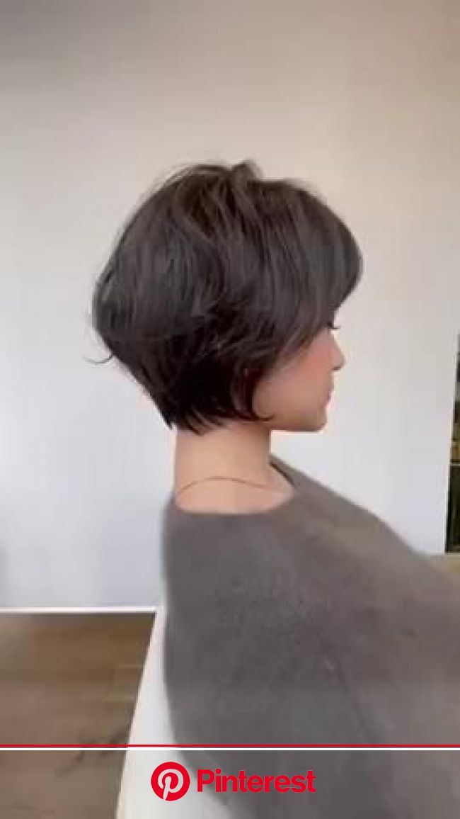 「「Haircut inspo」おしゃれまとめの人気アイデア|Pinterest|Lidia Alanis Lara Morera」[動画]【2021】 | ミディアムショートヘア, ヘアスタイリング, ショートのヘアスタイル