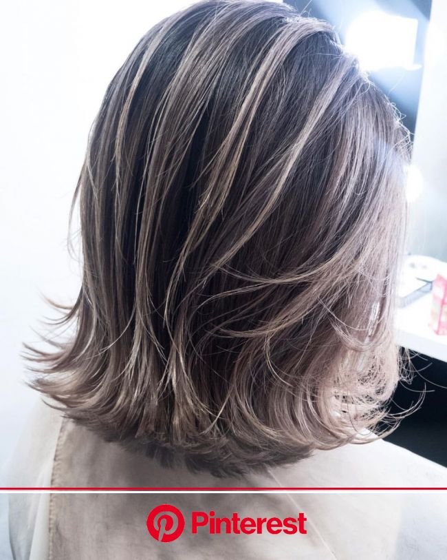 ______________balayage balayage / ombre #LAKing#LAKing_secret #balayage#balayageombre #ombrehair#ombre#bal… | Gray hair highlights, Hair styles, Grey