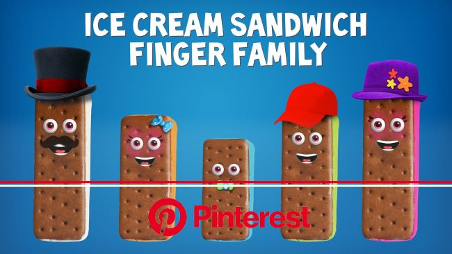 The Finger Family Ice Cream Sandwich Family Nursery Rhyme | Ice Cream Finger Family Songs | Finger family song, Finger family, Kids nursery rhymes