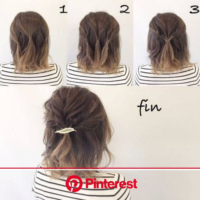 10 Easy Hairstyles To Mix It Up in 2020 | Short hair updo, Medium length hair styles, Easy hairstyles