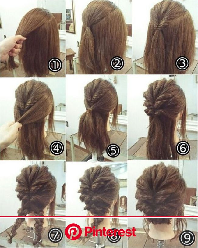 25 Super Hairstyles Step By Step For Lazy Girls - Bafbouf | Long hair styles, Hair styles, Hair tutorial