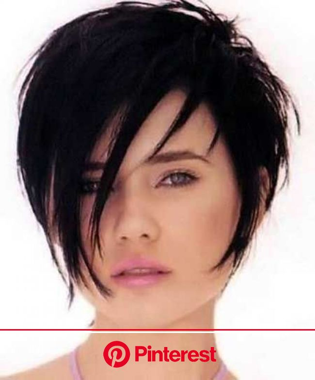 12 Boyish Yet Beautiful Short Straight Haircuts You will Love - Pretty Designs | Hair styles, Short hair styles, Short dark hair