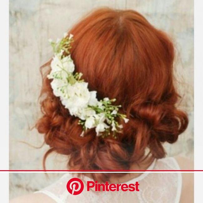 外人さんのお洒落な花嫁様の髪型 | ウェディングヘアアクセサリー, ヘアスタイリング, ヘアスタイル ロング