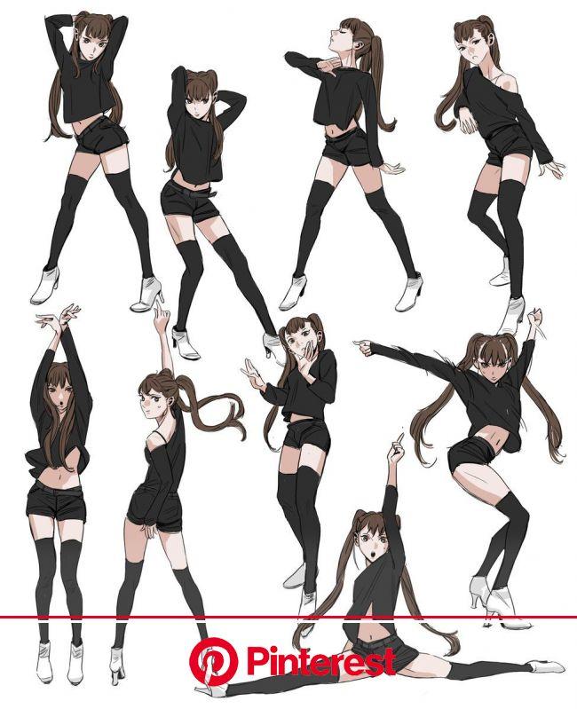 ダンスポーズ | Poses de danza, Poses anime, Diseños de ropa dibujos