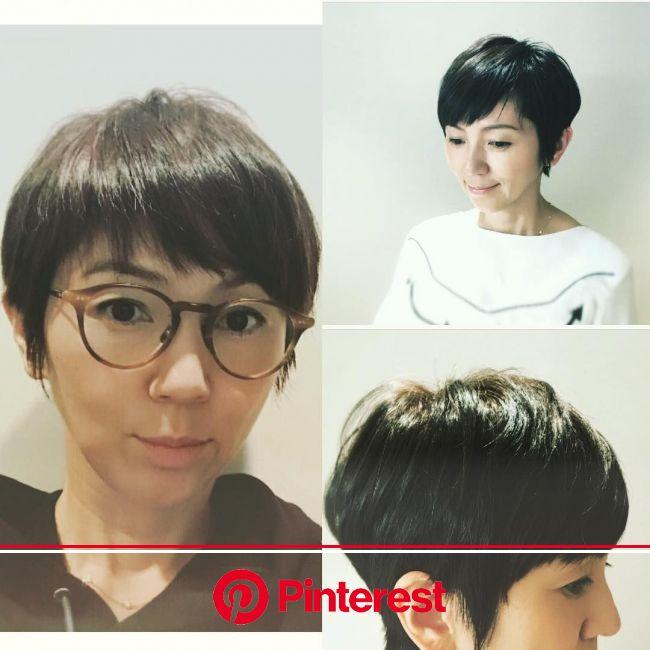 渡辺満里奈さんがヘアカット後にヘアカタログの撮影を…^ ^ いつも自然体で、笑顔がとてもチャーミングな満里奈さん… #hairstyle #haircut #hairsalon ... | 渡辺満里奈, ヘアカット, 髪型 ベリーショート レディース