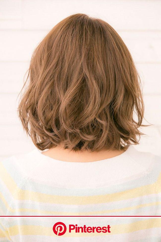 かきあげたり耳にかけたり前髪なしのボブはやっぱり人気!比留川游さん風大きめルーズウェーブボブ!!(画像あり) | デジタルパーマ ボブ, ボブパーマ, ヘアスタイル