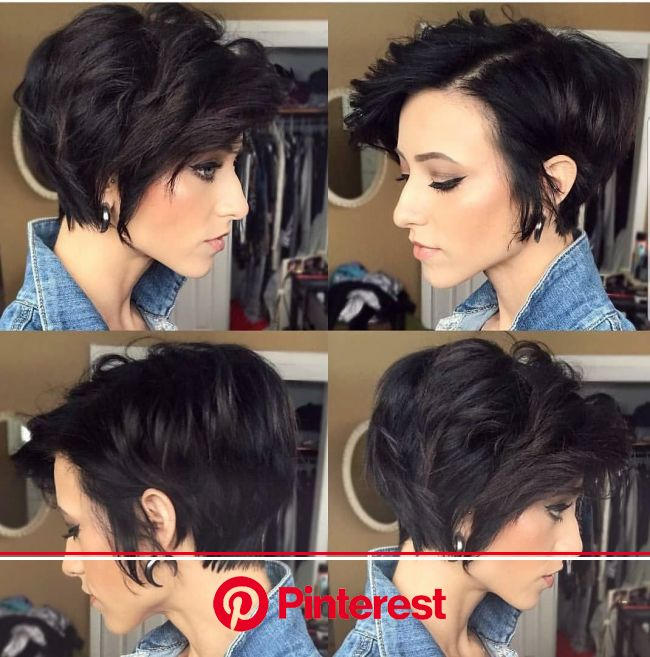 Stylish Asymmetrical Short Pixie Haircuts and Hairstyles, Women Short Hair Style Ideas | Thick hair styles, Short hair with bangs, Pixie haircut for t