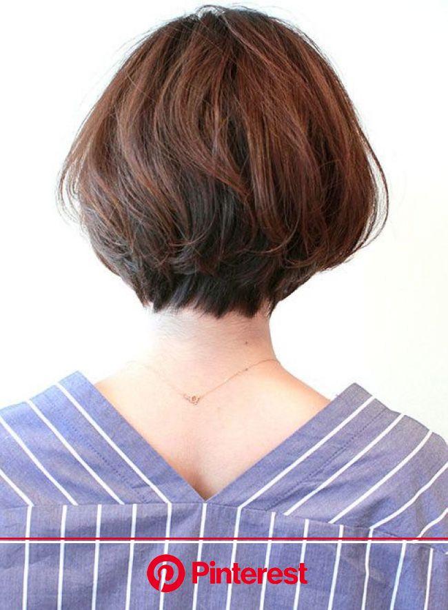 【ショートヘア】大人女性に人気のひし形ボブ/BEAUTRIUM AVEDA 阪急うめだ本店の髪型・ヘアスタイル・ヘアカタログ 2019春夏   美髪, ショートヘア, 髪型