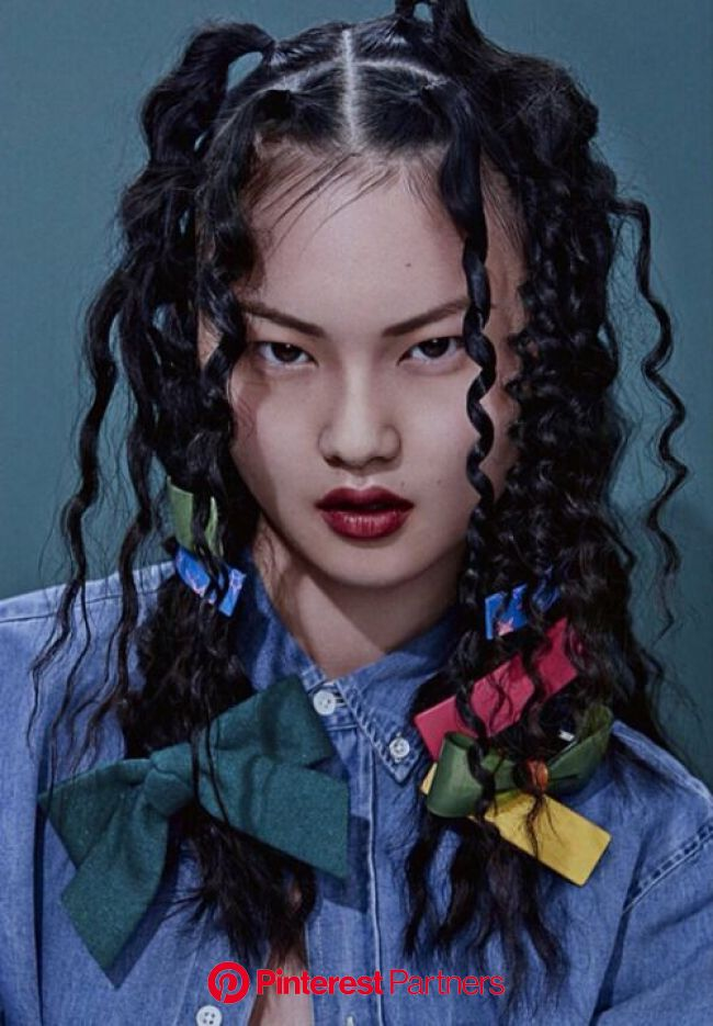 vuittonable: cong he for grazia china april 2015 Style lovers #fashion #style #black #photography #beauty in 2019   Hair art, Hair makeup, Hair refere