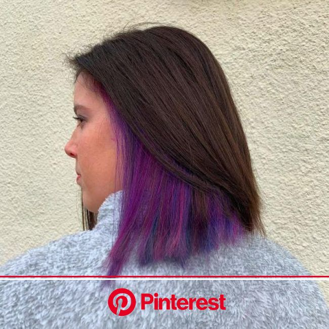 25 Cutest Peekaboo Highlights You'll See in 2020 in 2020 | Hair color streaks, Hair color underneath, Hidden hair color