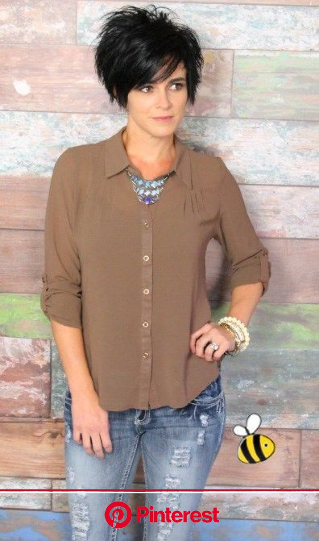 Fabulous Fall Blouse | Short hair styles, Hair styles, Short hair dos
