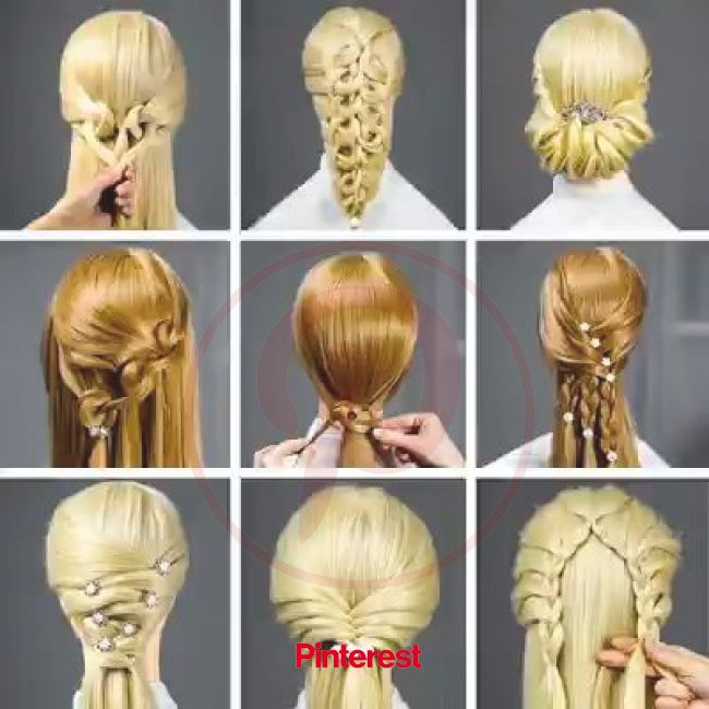 Stylish Hairstyles | Cool hairstyles, Diy hairstyles, Long hair styles