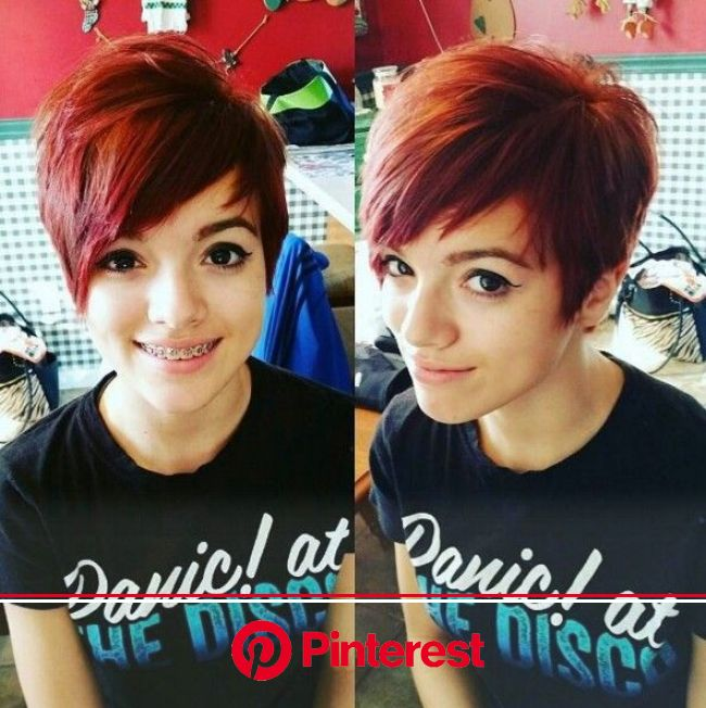 30 Stylish Short Hairstyles for Girls and Women: Curly, Wavy, Straight Hair - PoPular Haircuts | Short pixie haircuts, Cute hairstyles for short hair,