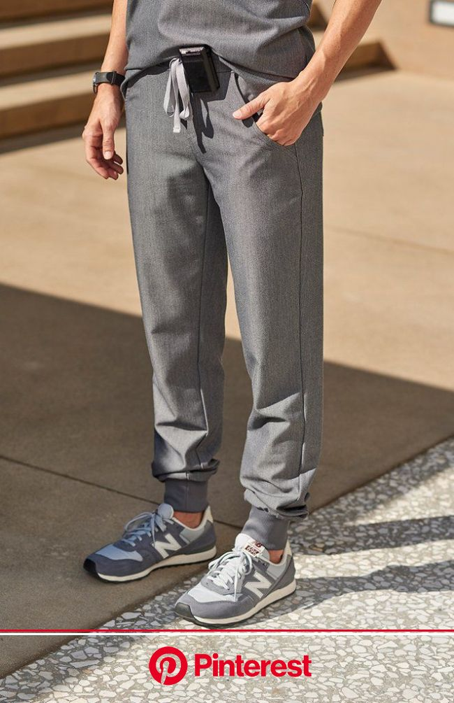 These sleek, stylish jogger scrub pants are super comfy but have a streamlined, urban-inspired feel and functio…   Medical scrubs outfit, Scrubs outfi