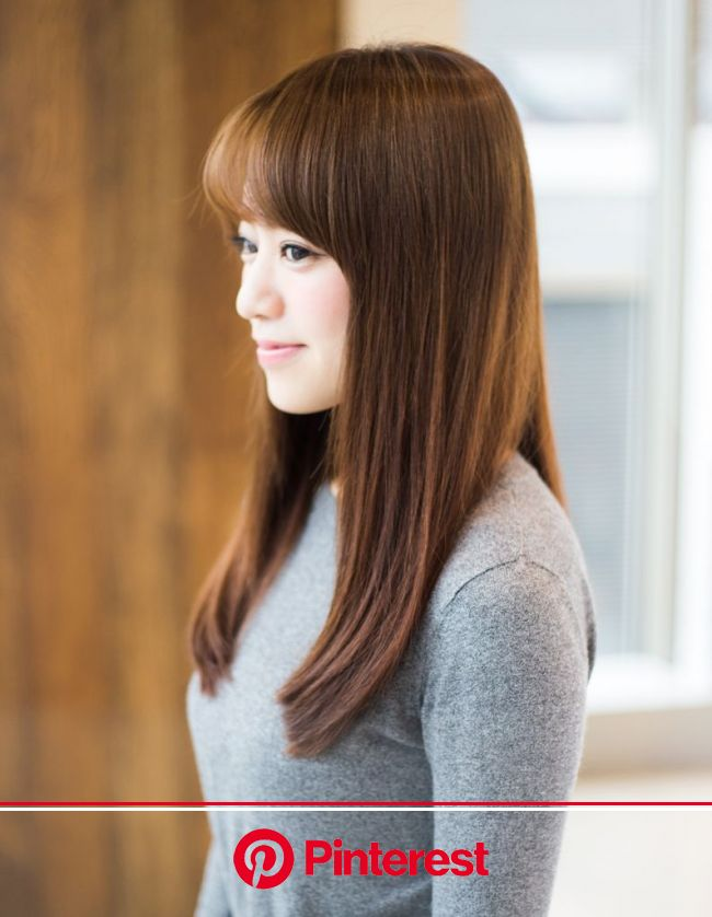 上品前髪✕さらっとストレート(YG-338) | ヘアカタログ・髪型・ヘアスタイル|AFLOAT(アフロート)表参道・銀座・名古屋の美容室・美容院 | ヘアスタイル, ストレートヘア, ヘアスタイル ロング