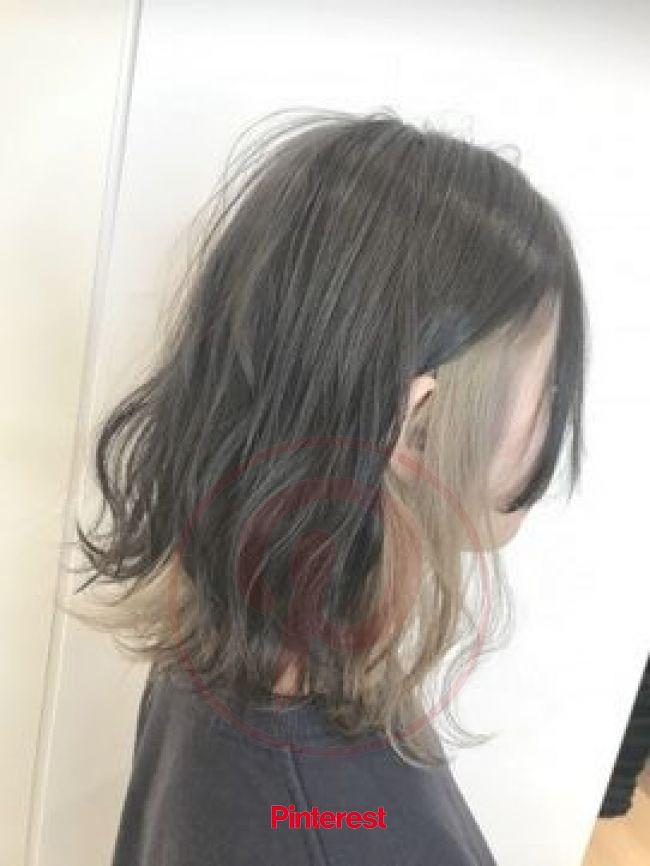 ホワイトベージュインナーカラー☆藤田 | Cabelos pintados, Cabelo lindo, Inspiração cabelo